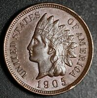 1905 INDIAN HEAD CENT - AU UNC - With HINTS OF MINT LUSTER!