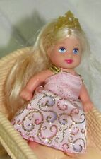 Princess Palace Barbie's Little Baby Sister Krissy Long Hair Dress/Gown Tiara