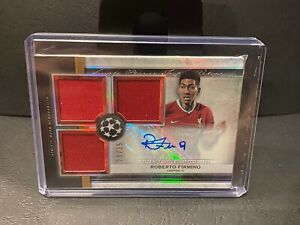 Roberto Firmino 2020-21 Topps Museum Triple Patch Jersey Relic Auto 28/35