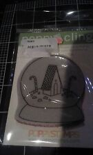 Poppy Cling Rubber stamps - Unmounted red rubber cling stamp - Candy house globe