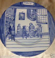 """DELFT HOLLAND METROPOLITAN MUSEUM OF ART MONTH OF YEAR FEBRUARY PLATE 9 1/8"""" MMA"""