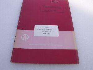 Pye Amateur Radio Manual UHF FM Fixed StationTransmitter T462 (Red Cover)