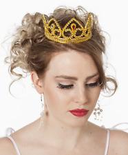 Goldige Glitzer Krone Gold NEU - Karneval Fasching Hut Mütze Kopfbedeckung
