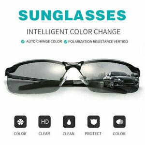 HOT_Photochromic Polarized Men Sunglasses Glasses Len Goggles Outdoor Driving UK