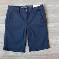New American eagle skinny Bermuda blue Shorts Womens Size 28