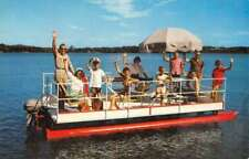 Northern Pacific Railway Pontoon Boat Passengers Vintage Postcard K76852