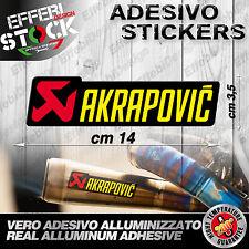 Adesivo / Sticker AKRAPOVIC YAMAHA HONDA SUZUKI KAWASAKI KTM EXAUST 200°gradi