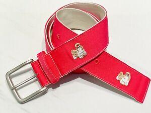 Embroidered Belt Shih Tzu Gift Preppy PINK Dog Dad Gift Dog Mom Gift NEW