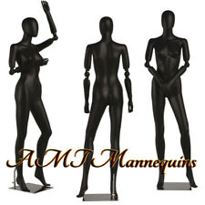 Female mannequin, Full body, Flexible, Articulate arms, High End black manikin