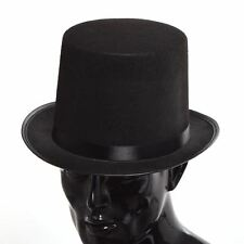 Men's Vintage Tuxedo Victorian Steampunk Top Hat Satin Fancy Dress Magician Hat