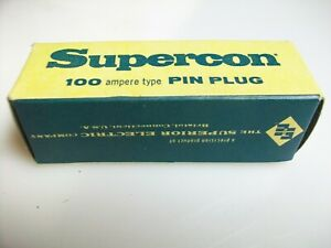 SUPERIOR ELECTRIC RED  100 AMP PIN PLUG  PP100GR  125-250 V. Ac/Dc