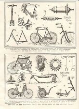 1901 ANTIQUE PRINT - EXHIBITS AT THE NATIONAL CYCLE AND MOTOR SHOW