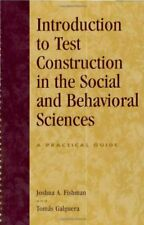 Introduction to Test Construction in the Social and Behavioral Sciences - PBK