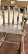 Vintage Childs Rocking Chair Wood Children Rocker