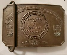 "Committee of Vigilance of San Francisco Belt Buckle Organized 1856 (2.5"" x 3"")"