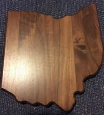 OHIO STATE SHAPED SOLID WALNUT WOOD BLANK PLAQUE
