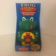 Frog Cookie Jar - FunDamental Too - Original Packaging - Ribbits - 1998