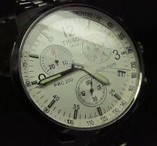 Tissot White PRC 200 Chronograph Silver T - Sports Classic Men's Swiss Watch