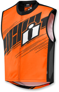 ICON Mil-Spec 2 Reflective Motorcycle Vest HI VIS ORANGE
