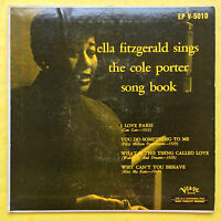 Ella Fitzgerald Sings The Cole Porter Song Book - Verve Records EP V-5010 VG