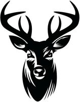 LARGE stag deer head vinyl graphic decal car van bonnet stickers wall art hunter