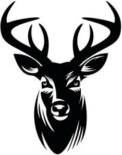 LARGE stag deer head vinyl graphic decal car van bonnet stickers wall art hunter