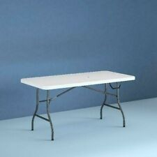 6 Foot Portable Lightweight Centerfold Heavy Duty Easy-Cary Folding Table, NEW