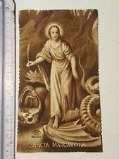 Santino Holy Card fustellato Santa Margherita Sancta Margaritha Ele 340 GT1476 ^