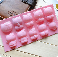 Hello kitty Muffin Sweet chocolate candy Jelly fondant Cake Soap Mold tool