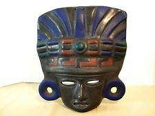 Wall Hanging Mask - Ceramic Large Aztec Style from Mexico