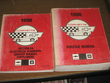 1990 CORVETTE FACTORY REPAIR SERVICE SHOP MANUAL WITH ELECTRICAL DIAGNOSIS SUPP.
