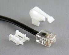 RJCLIP-11 (2 sets - White) for fixing broken RJ11/RJ12 connectors