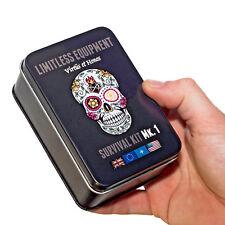 LIMITLESS EQUIPMENT USA MARK 1 Survival Kit: UK MADE, pocket size, 40+ items