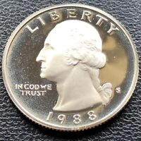 USA 1988 S Washington Quarter Proof PP Selten San Francisco Polierte Platte