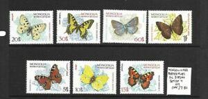 Mongolia 1963 Butterflies set MNH