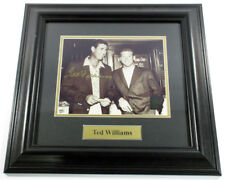 Ted Williams Signed Photo with Mantle Matted Framed Green Diamond Auto DF026010