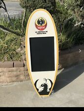 Imperial Surfboard Chalkboard Beer Bar Wood Sign Mirror Man Cave