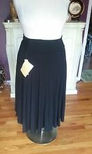 (Bernardo) QVC  Full Length Black Flair Skirt   Size M  NWTGS