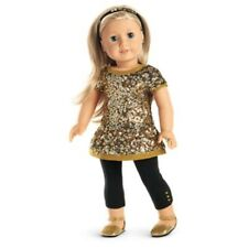SALE~RETIRED! AMERICAN GIRL GOLDEN SPARKLE CHRISTMAS OUTFIT NIB~RING! FIT TENNEY