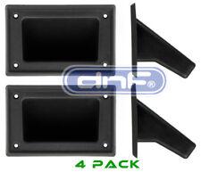 "4 Pieces 5.25"" x 3.5"" DJ Speaker Box Black Plastic Pocket Handles Enclosure"