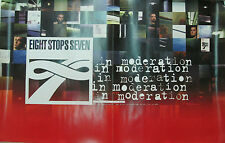 Eight Stops Seven In Moderation, orig Reprise promo poster, 1999, 11x17, Ex, alt