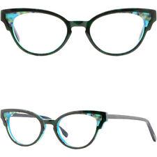 Vintage Women's Cateye Acetate Frames Spring Hinges Prescription Glasses Green