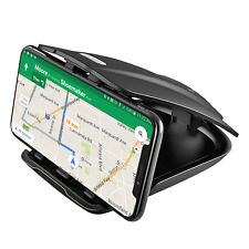 Universal One Hand Non-Slip Clamp Car Dashboard Phone Mount for Smartphone & Gps