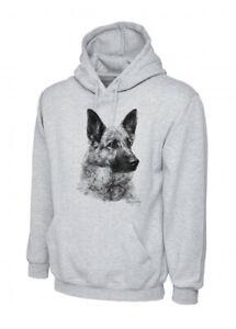 Mike Sibley German Shepherd(image2)Grey Unisex Hoodie XS-3X Ideal Dog Lover Gift