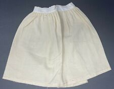 """Vintage Victorian Off White & Tan Wool Large Doll Petticoat Skirt 10 1/4"""" Long"""