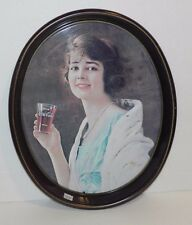 Coca Cola 1923 Advertising - Girl w Glass Metal Tray dated 1973 - Free Shipping