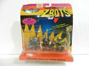 MICRO MACHINES ZBOTS 3 MICRO ROBOTS (KHANN ...) SEALED GALOOB 1993