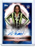 WWE Naomi 2019 Topps Road To WrestleMania Blue Autograph Card SN 20 of 50