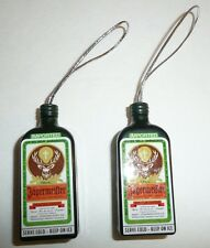 Jagermeister Bottle Holiday Ornaments - Lot of 2 - Christmas Plastic Decor Jager