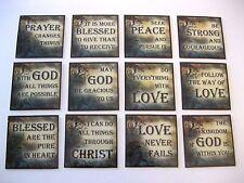 12 Inspirational Fridge Magnets Scripture Christian Religious Dozen Set B